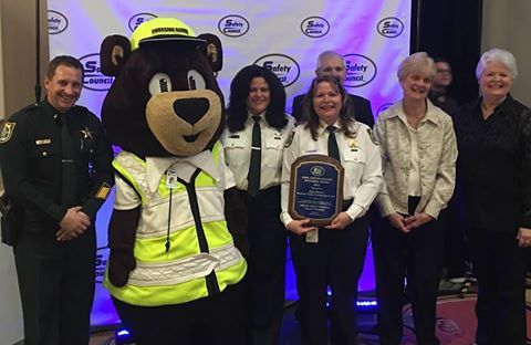 SCSO's School Crossing Guard Program Supervisor JoJo Sturm, received the distinction of being awarded the prestigious Sarah Griffin Hughes Award from the United Safety Council. The SCSO's School Crossing Guard Program has also been awarded the Crossing Guard Program of the Year, 3 of the last 4 years (2012, 2013, 2014, 2015), by the Florida Department of Transportation.