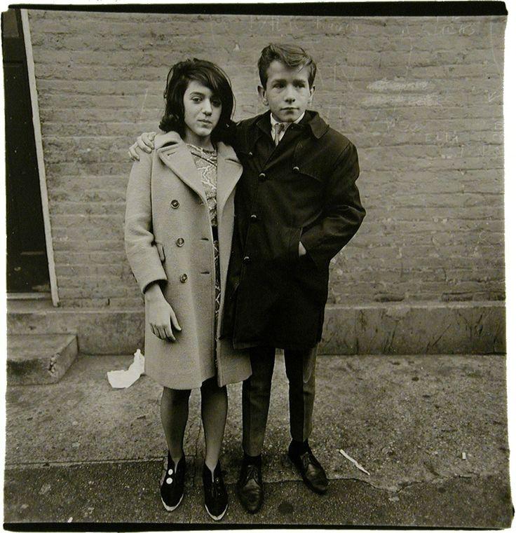 Diane Arbus, Teenage couple on Hudson Street, N.Y.C., 1963, Pace/MacGill Gallery