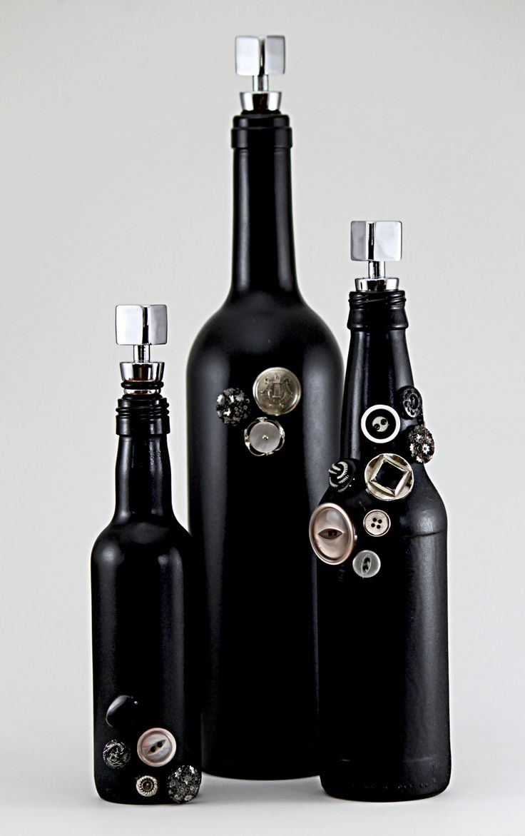 Black Decorative Bottle Set
