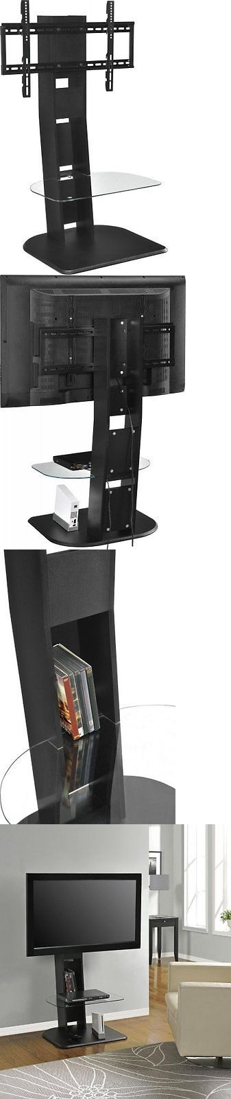 Entertainment Units TV Stands: Altra Furniture Galaxy Tv Stand With Mount For Tvs Up To 50-Inch, Black Finish BUY IT NOW ONLY: $66.84