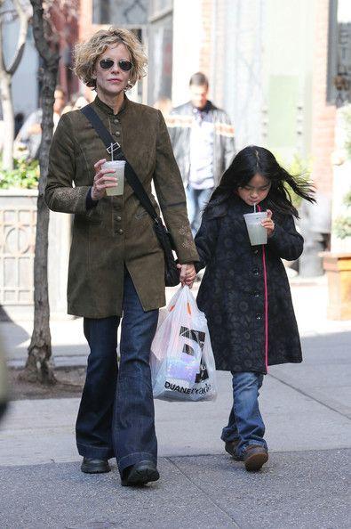Meg Ryan is seen with her daughter Daisy True Ryan in SoHo, New York City