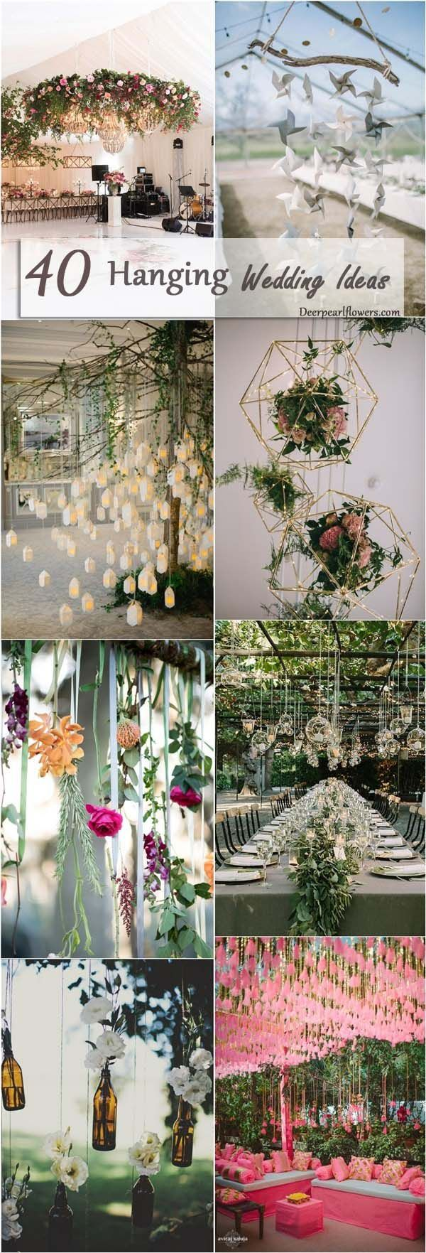 hanging wedding ideas and themes / http://www.deerpearlflowers.com/hanging-wedding-decor-ideas/2/