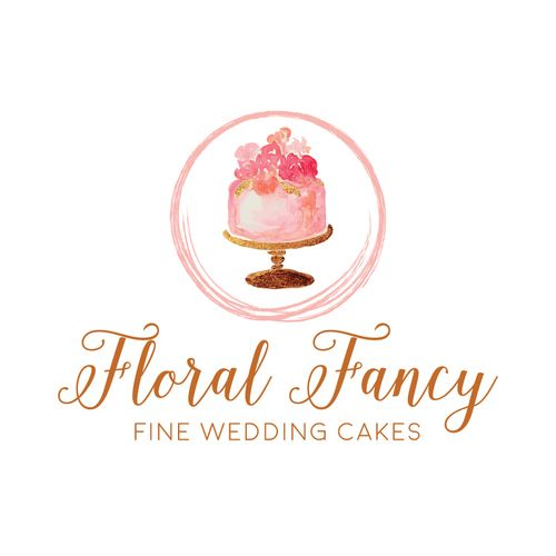 Premade Logo - Watercolor Cake - Customized with Your Business Name!