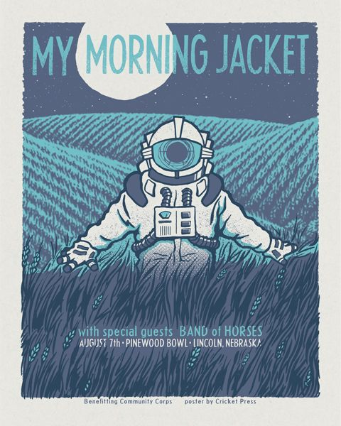 My Morning Jacket & Band Of Horses - gig poster