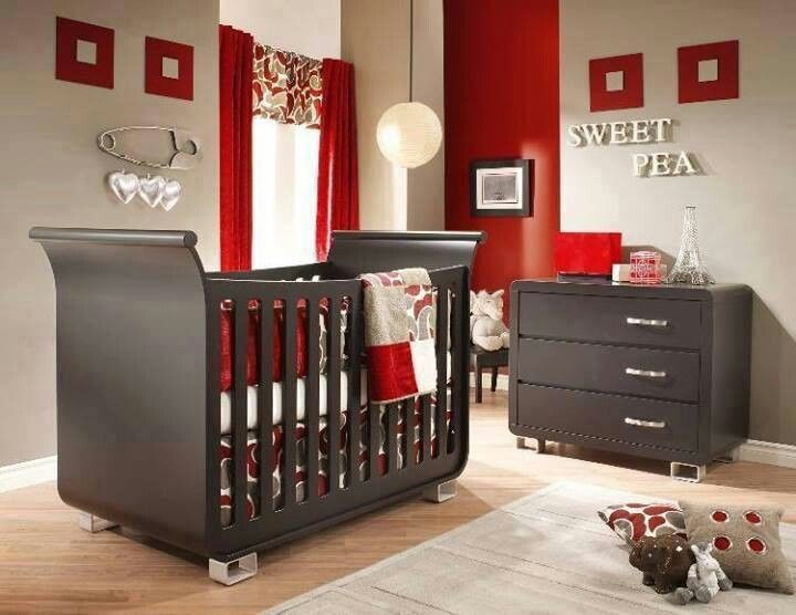 Baby room BROWN & RED