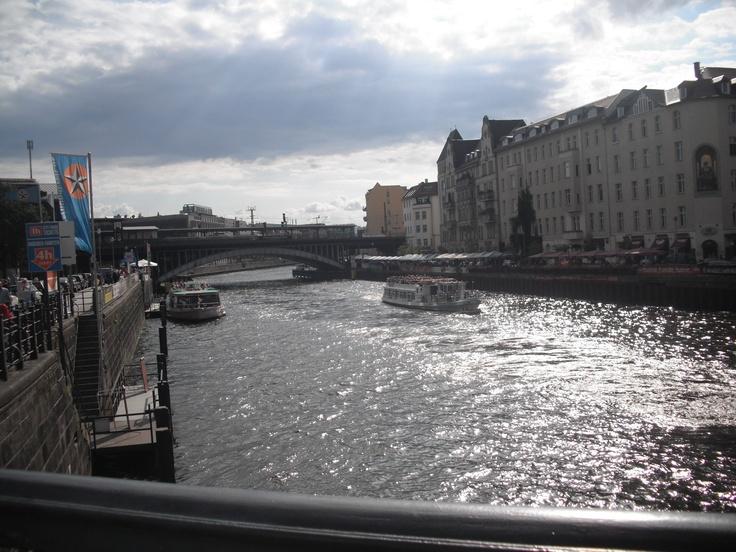 Berlin, Germany.  The Spree river.