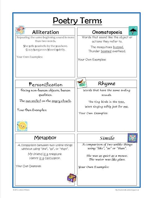 Worksheet Poetry Worksheets 1000 images about poetry resources on pinterest the smalls terms worksheet it is great for practice and review