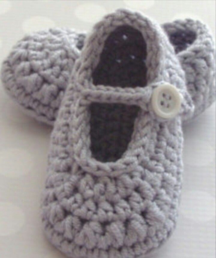 Found on Instagram. PICTURE ONLY for inspiration. Crochet baby bootie.