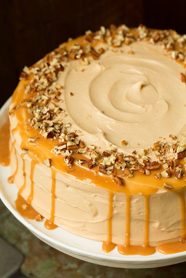 Pumpkin Cake Caramel Frosting