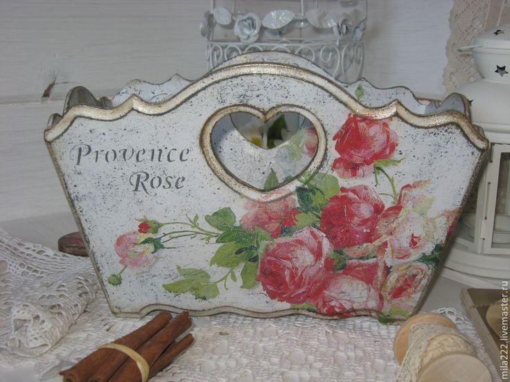 """Купить """"Прованские Розы""""-короб-сухарница - серый, купить короб для кухни, купить короб"""