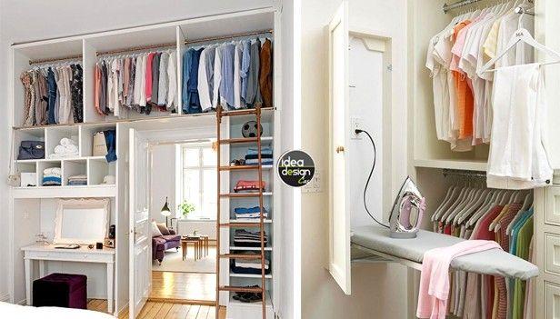 organizzare una cabina armadio in un piccolo appartamento! 20 idee...   Cabina armadio, Armadio ...