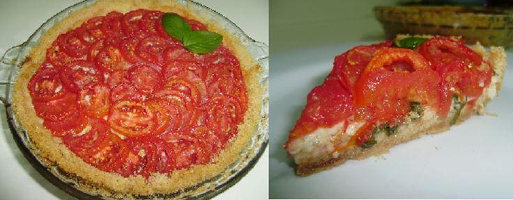 Torta de Queijo Branco com Tomates