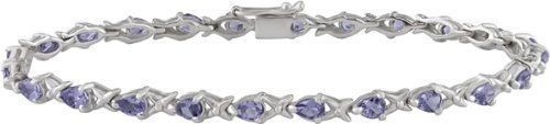 Sterling Silver 4-1/4ct TGW Tanzanite Bracelet Amour. $79.99. Save 50%!