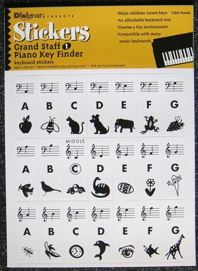 Key Finder Keyboard Stickers And Piano On Pinterest