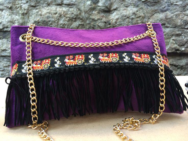 #pochette #handmade by IDDI made in #sicily  #velvet #violet