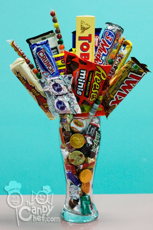 26 Best Candy Bouquets Vase Images On Pinterest Candy