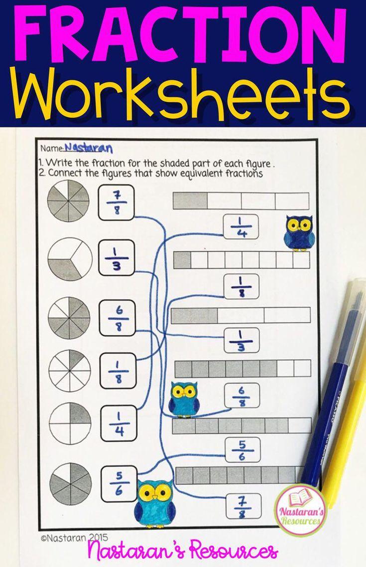 Fraction Worksheets Grade 3,Number Line activities ...