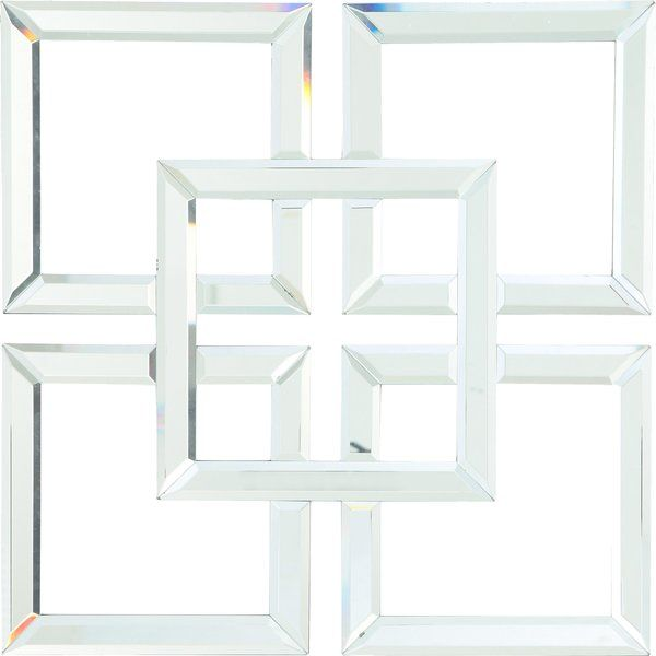 Geometric Glass Mirrored Wall Decor Mirror Wall Mirror Wall Decor Mirror Wall Art