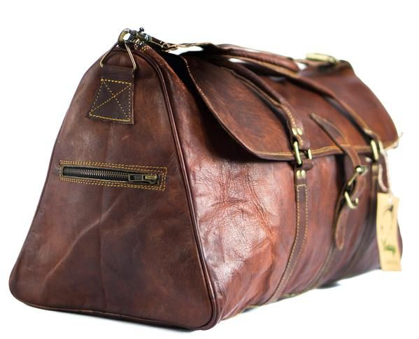 Perfect Overnight Leather Duffle Bag! Free Delivery Australia Wide. Available With Afterpay and Zippay.