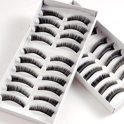 20 PAIRS VOLUME WAVE NATURAL FALSE FAKE EYELASH EYE LASHES SET. Brand New 20 PAIRS FALSE EYELASHES Used to add volume to your eyelashes. It can be used for day & night makeup depends on your own creation. Perfect for different occasions and images. Suitable for your party make up or daily use. Perfect for Make Up Artists and girls who want to be more attractive! Easy to use and comfortable to wear. Easy to remove by eye make up remover. Can be used again if you take them off carefully…