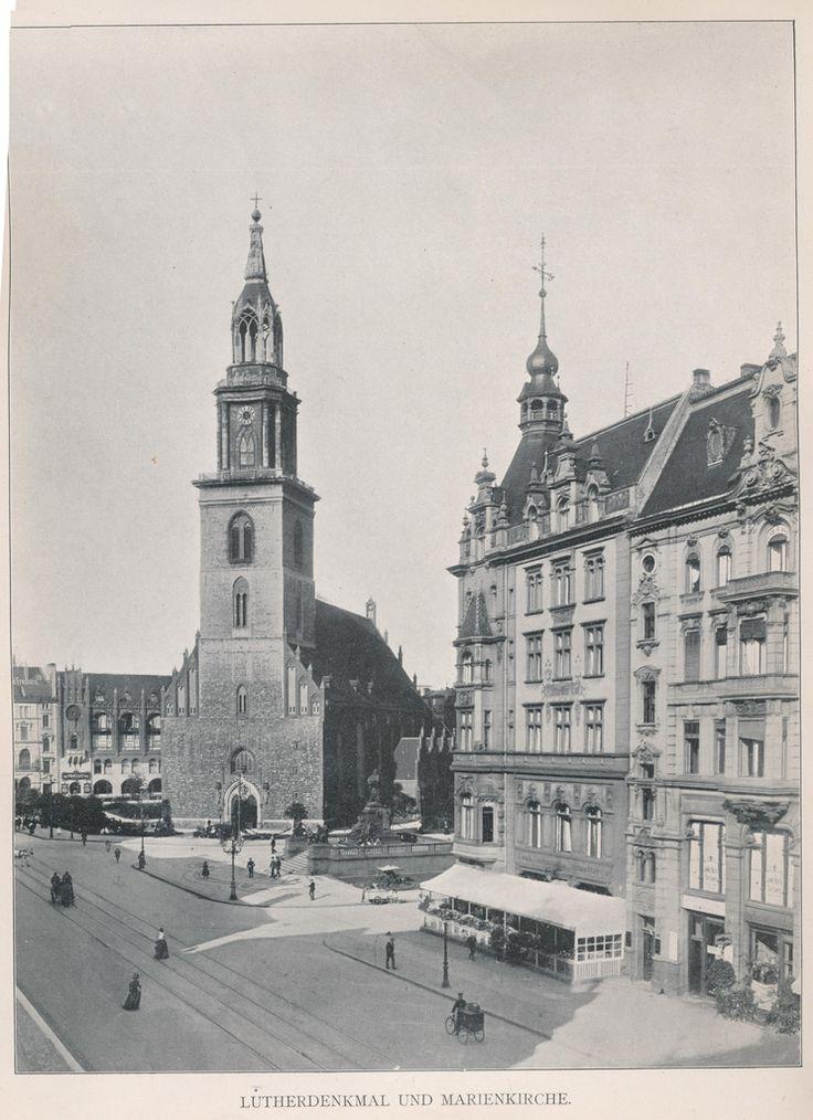 Marienkirche, Lutherdenkmal  20er Jahre