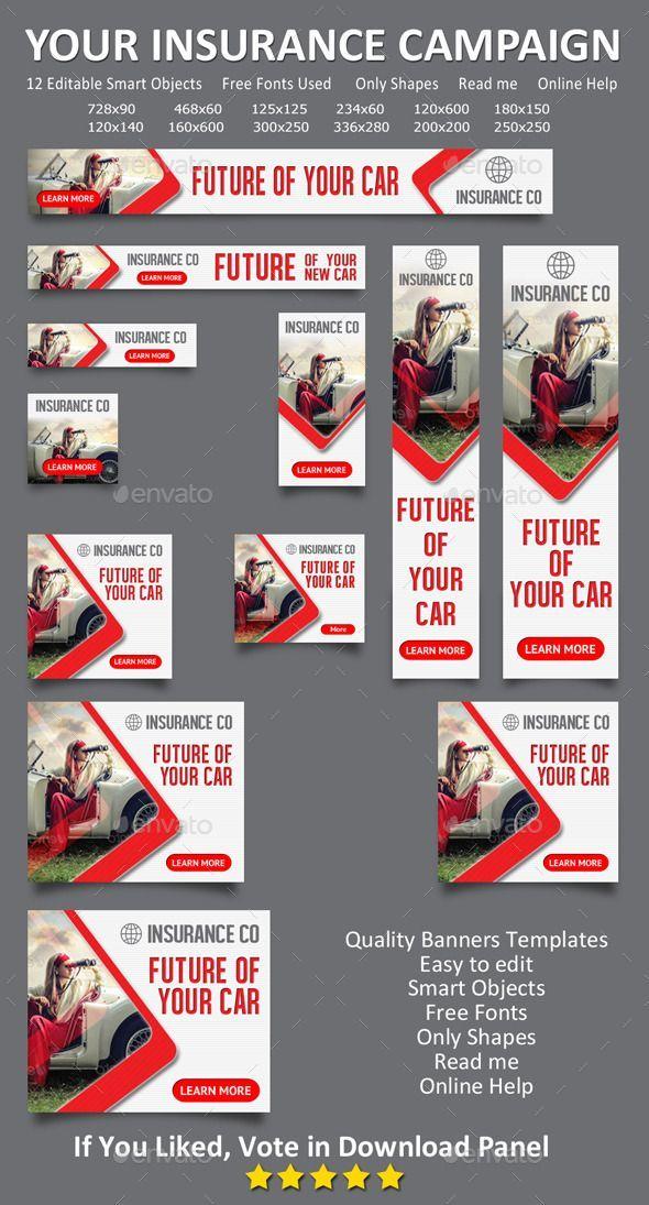 Auto Insurance Web Banner Design Template 02 Banners Ads Web Template Psd D Ads Auto Banner Bann Web Banner Design Banner Design Layout Web Banner