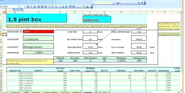 Free Stock Inventory Software Excel Office Supply Spreadsheet Template Management Access Te Spreadsheet Template Business Valuation Sample Resume