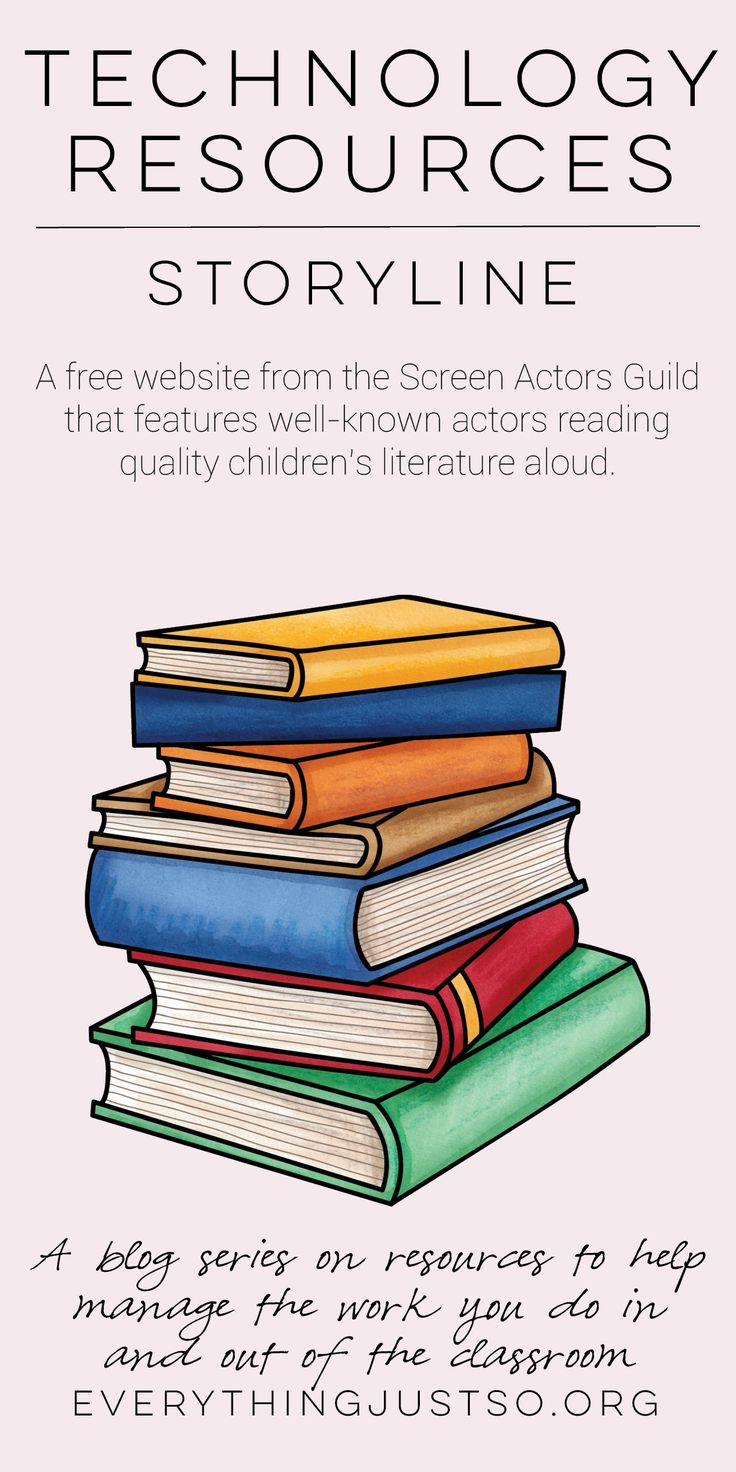 Technology Resources Storyline. | everythingjustso.og | The first in a series on technology resources for the classroom. Storyline: A website that features celebrities reading popular children's literature.
