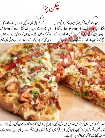 Tandoori chicken pizza recipe in urdu
