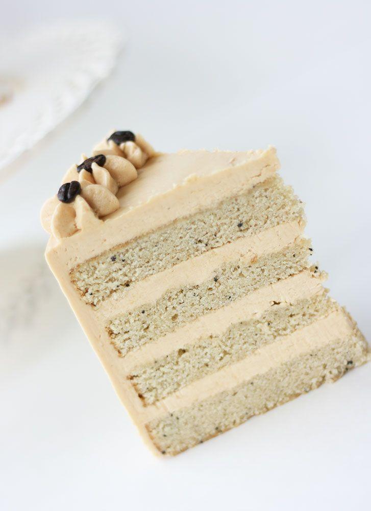 White Mocha Cake with Espresso Caramel Buttercream | Cake Paper Party