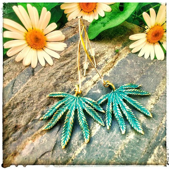 Check out this item in my Etsy shop https://www.etsy.com/listing/528487078/simple-green-cannabis-leaf-earrings