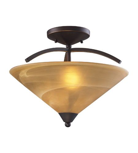 elk elysburg 2 light 16 inch aged bronze semiflush mount ceiling light