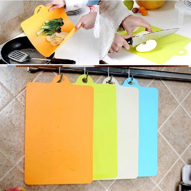 1 PCS 24x34.9cm Fruit Chopping Board Chopping Block Plastic Cutting Board Cutting Board Antibiotic Kitchen Utensils