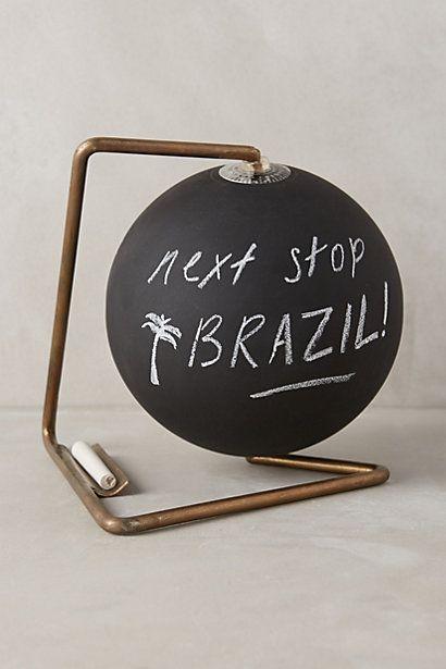 Anthropologie Chalkboard Black Globe: http://rstyle.me/n/u9498bcukx #interior #home #decor