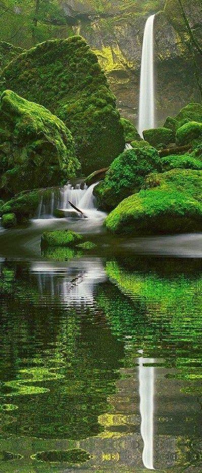 Elowah Falls. Oregon http://stunningpicz.blogspot.com/