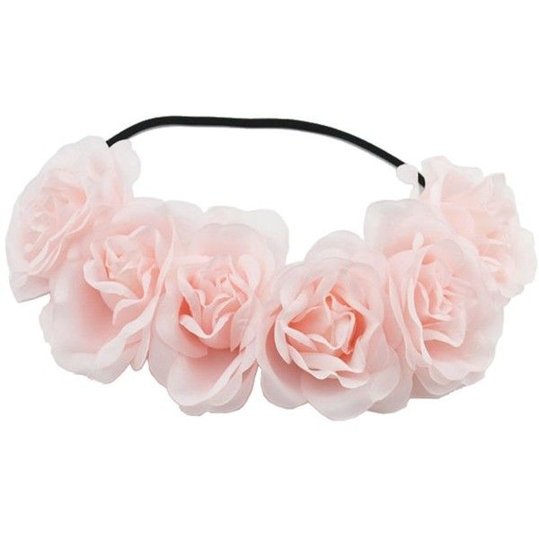 Floral Fall Rose Flower Crown Wedding Hair Band Festivals Headband... (£7.50) ❤ liked on Polyvore featuring accessories, hair accessories, rose headband, garland headband, flower crown, headband hair accessories and rose flower crown