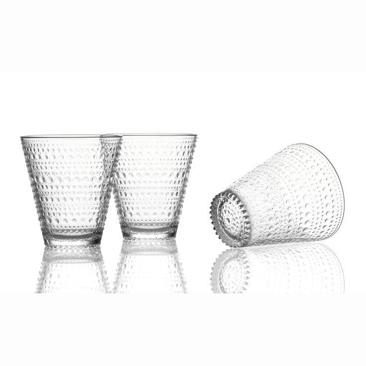 Kastehelmi dricksglas från Iittala, formgiven av Oiva Toikka. Den klassiska Kastehelmi-serien är en ...