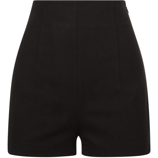 La Perla Essentials Bi-Stretch Cotton High Waist Shorts ($418) ❤ liked on Polyvore featuring shorts, bottoms, black, high-waisted shorts, high waisted shorts, highwaist shorts, cotton stretch shorts and high rise shorts
