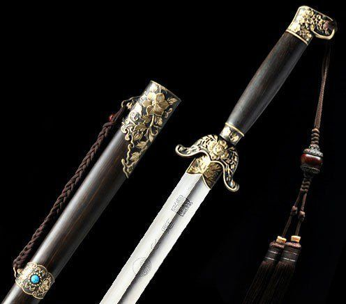 Genuine Shen Hirotaka Handmade Flower Tai Chi Sword via Asia-Sale Best Tai Chi, Kung Fu Clothing