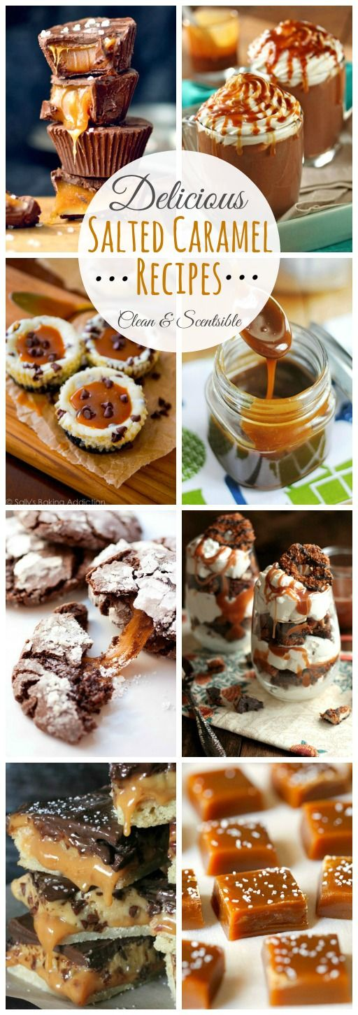 Delicious salted caramel recipes to satisfy those sweet and salty cravings! // cleanandscentsible.com