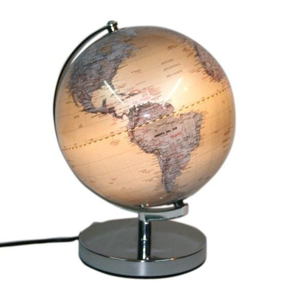 Globo terráqueo con luz actualizado medida 25cms de diámetro