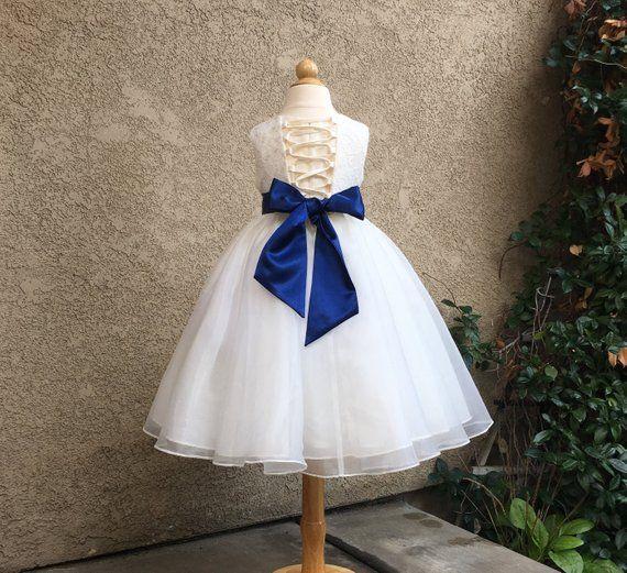 Organza Ivory Flower Girl Dress, Ivory Lace Dress, Girls Formal Dress, Girls Party Dress, Wedding Dress, Lace Flower Girl Dress, Ivory Dress   – Weddings: Flower Girls