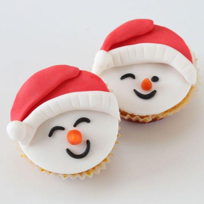 Sneeuwpop cupcakes ,