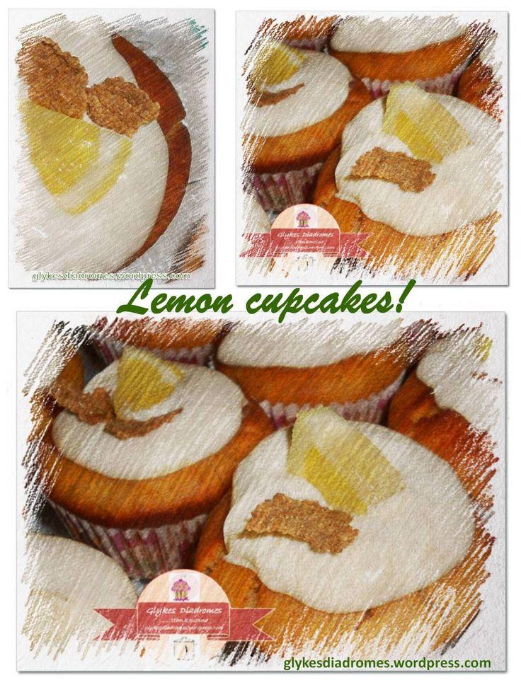 Lemon cupcakes - glykesdiadromes.wordpress.com