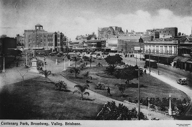 Centenary Park, Fortitude Valley, Brisbane, Queensland, ca. 1931