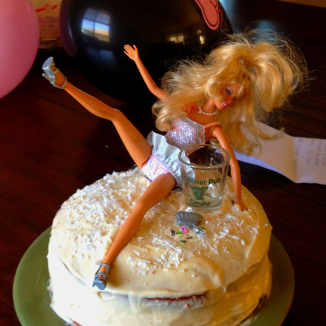 Drunken Barbie Bachelorette Cake Made This Last Night