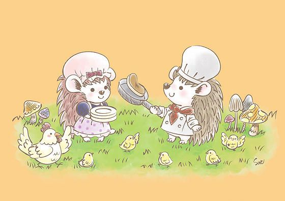 Satoko's Art Market | #Chamu-moi #SatokoMiyakawa #illustration #characters illustration #cute illustration #animal illustration #Satokostudio #みやかわさとこ
