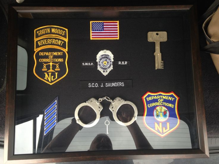 Njdoc correction officer retirement shadow box sco j
