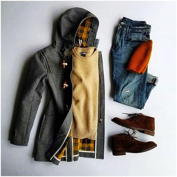 Moda para hombre | otoño - invierno Winter Outfits, Casual Outfits, Fashion Outfits, Fashion Ideas, Fashion Shirts, Rock Outfits, Emo Outfits, Fashion Clothes, Fashion Inspiration
