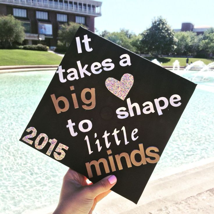 Elementary education graduation cap idea at ucf | home/craft ideas